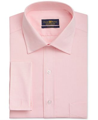 Club Room Men's Classic/Regular Fit Wrinkle Resistant Pink French ...