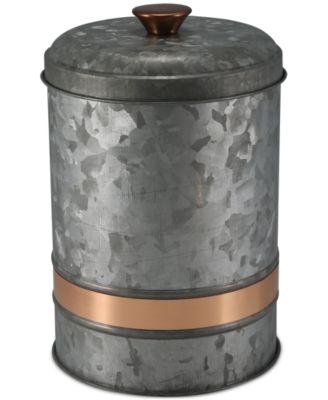 Medium Two-Tone Galvanized Canister