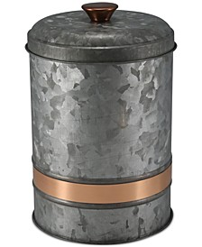 Medium Two-Tone Galvanized Canister