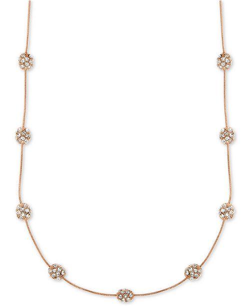babf37c5dd3f Anne Klein Rose Gold-Tone Crystal Fireball Collar Necklace ...