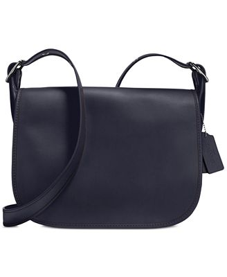 coach gray bag ezak  COACH Saddle Bag in Glovetanned Leather
