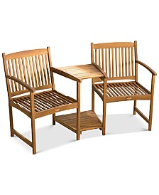 Kendale Acacia Wood Adjoining Chair, Quick Ship