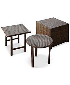 Aldin Wicker 3-Pc. Table Set, Quick Ship