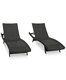 Aldin Outdoor Wicker Chaise Lounges (Set Of 2)