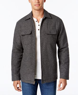 Club Room Men's Fleece Lined Shirt Jacket, Only at Macy's - Coats ...