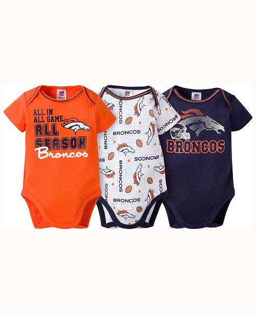 Gerber Childrenswear Babies  Denver Broncos 3-pack Bodysuit - Sports ... 33846655a