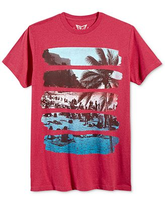 Univibe Men's Tropical Streak T-Shirt
