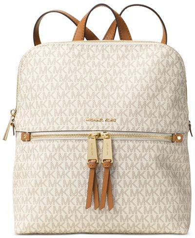 Michael Kors Signature Rhea Medium Slim Backpack