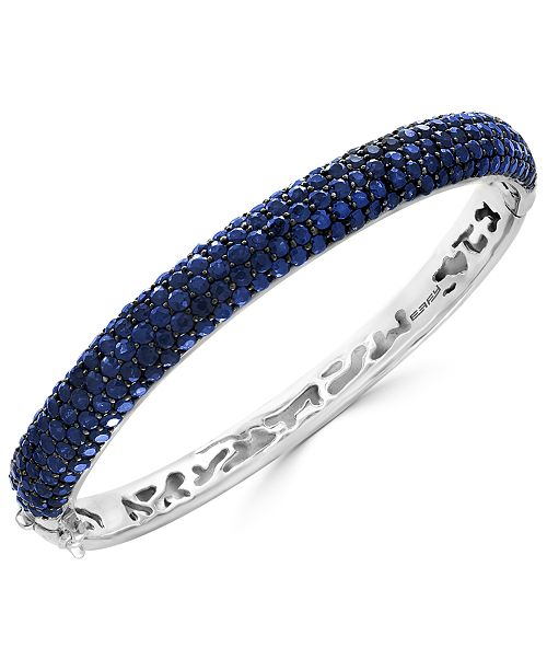 EFFY Collection EFFY® Balissima Sapphire Pavé Bangle Bracelet (10 ct. t.w.) in Sterling Silver