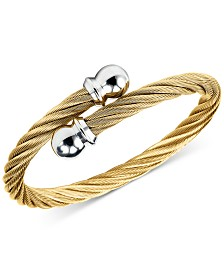 Charriol Unisex Celtic Twisted Cable Bracelet in Gold-Plated Stainless Steel