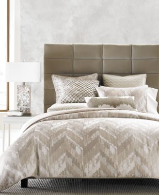 Distressed Chevron Full/Queen Comforter, Created for Macy's