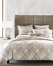 CLOSEOUT! Distressed Chevron Bedding Collection, Created for Macy's