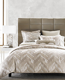 Hotel Collection Distressed Chevron King Duvet Cover, Created for Macy's
