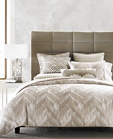 Hotel Collection Distressed Chevron Comforters, Created for Macy's