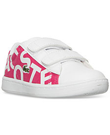 Lacoste Toddler Girls' Carnaby EVO Logo Casual Sneakers from Finish Line