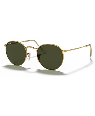 Ray-Ban Sunglasses, RB3447 53 ROUND METAL