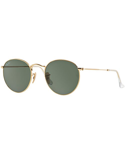 Ray-Ban Sunglasses, RB3447 ROUND METAL