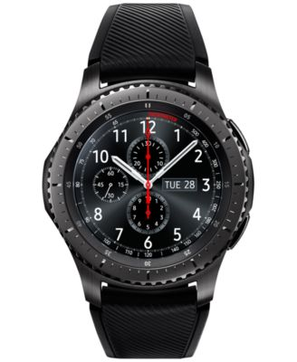 Image of Samsung Gear S3 Frontier Smart Watch with 46mm Stainless Steel Case & Black Silicone Strap SM-R760ND