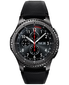 Gear S3 frontier Smart Watch with Stainless Steel Case & Black Silicone Strap 46mm