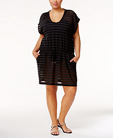 Calvin Klein Plus Size Crochet Cover-Up