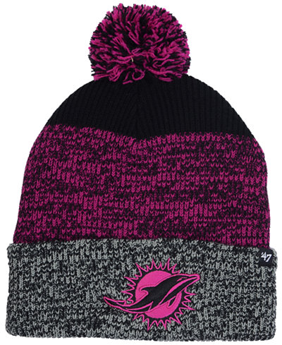 '47 Brand Miami Dolphins Static Cuff Pom Knit Hat