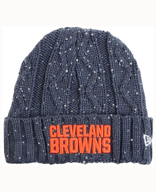 3f29ccaf91436 ... ireland womens cleveland browns frosted cable knit hat e2080 cba70