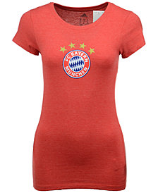 adidas Women's Bayern Munich International Soccer Club Team Crest T-Shirt