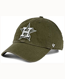 '47 Brand  Houston Astros Olive White CLEAN UP Cap