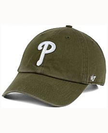 '47 Brand  Philadelphia Phillies Olive White CLEAN UP Cap