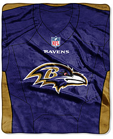 Northwest Company Baltimore Ravens Jersey Plush Raschel Throw