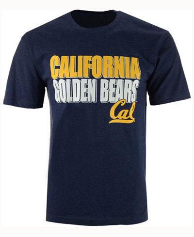 Colosseum Men's California Golden Bears Wordmark Stack T-Shirt