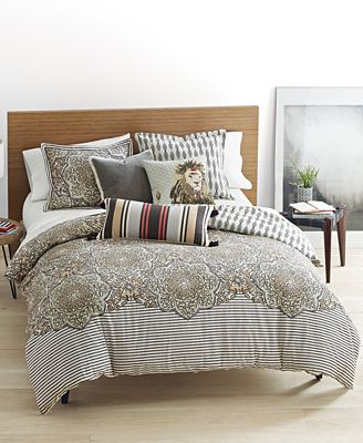 Whim by Martha Stewart Collection Bohemian Rhapsody Reversible Seashore Tan Bedding Collection, Only at Macy's