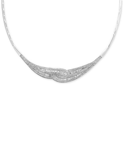 Classique by EFFY® Diamond Loop Collar Necklace (1-3/4 ct. t.w.) in 14k Gold & White Gold