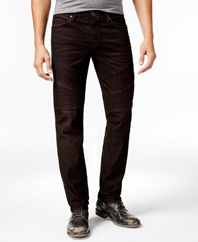True Religion Men's Rocco Skinny- Fit Moto Corduroy Pants - Jeans ...