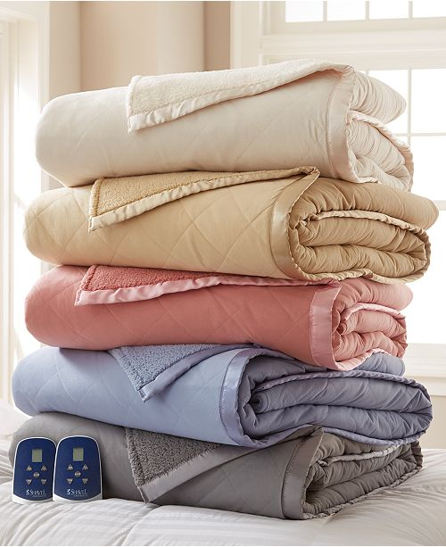 Shavel Reversible Micro Flannel® to Sherpa Heated Blankets