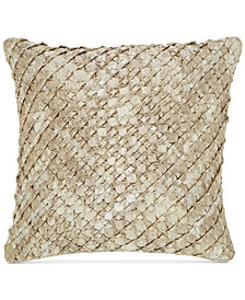 "Hotel Collection Distressed Chevron 20"" Square Decorative Pillow, Created for Macy's"