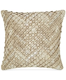 "CLOSEOUT! Hotel Collection Distressed Chevron 20"" Square Decorative Pillow, Created for Macy's"