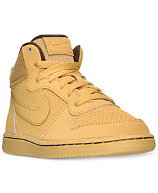Nike Little Boys' Court Borough Mid Premium Casual Sneakers from Finish Line