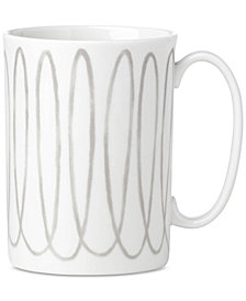 kate spade new york Charlotte Street West Grey Collection Mug