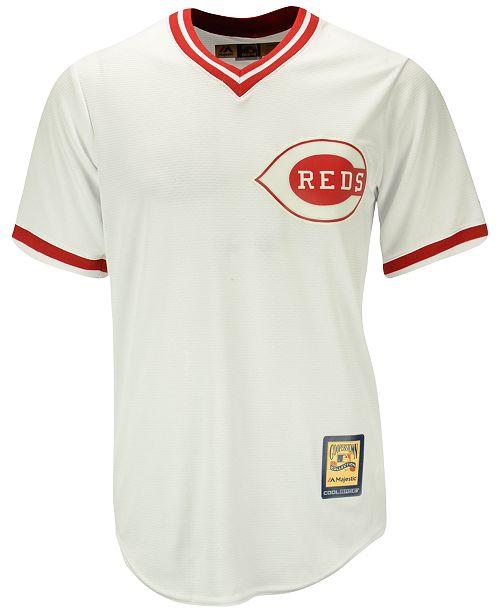 san francisco afe5e f5f3d Barry Larkin Cincinnati Reds Cooperstown Replica Jersey