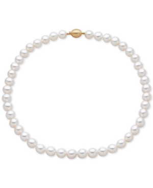 Cultured Freshwater Pearl (9-1/2mm) and Diamond Accent Collar Necklace