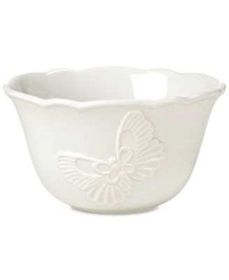 Butterfly Meadow Carved Collection Rice Bowl