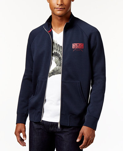 Armani Exchange Men's Eagle Logo Full-Zip Sweatshirt