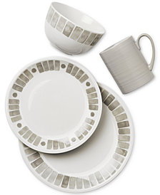 Martha Stewart Collection Heirloom Gray Dinnerware Collection, Created for Macy's
