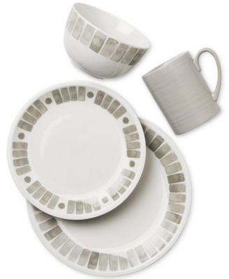 main image  sc 1 st  Macy\u0027s & Martha Stewart Collection Heirloom Gray Dinnerware Collection ...