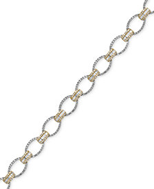 Duo by EFFY® Diamond Tennis Bracelet (2 ct. t.w.) in 14k White and Yellow Gold