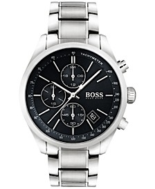 Hugo Boss Men's Chronograph Grand Prix Stainless Steel Bracelet Watch 44mm 1513477