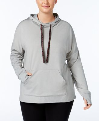 Material Girl Active Plus Size Pullover Hoodie, Only at Macy's