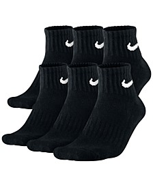 Men's Cotton Quarter Socks 6-Pack