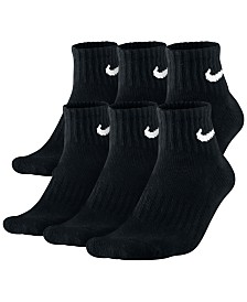 Nike Men's Cotton Quarter Socks 6-Pack